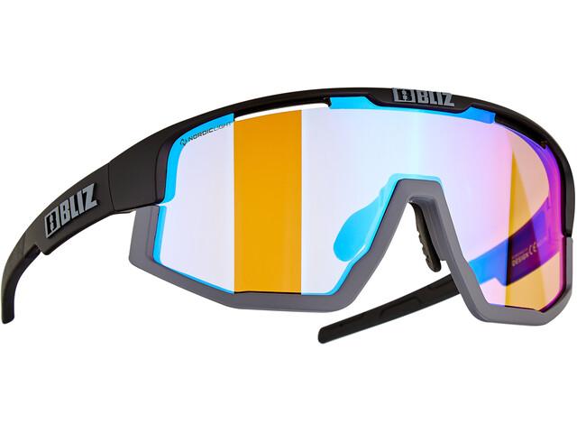Bliz Vision Nano Optics Nordic Light Glasses black/coral with blue multi